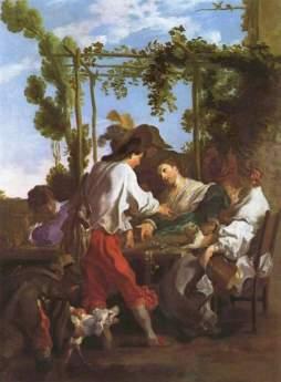 Johann Liss: Rozrywka na wolnym powietrzu