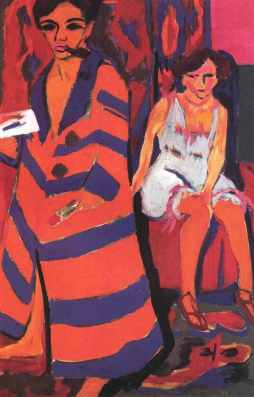 Ernst Ludwig Kirchner: Autoportret z modelką