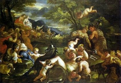 Luca Giordano: Bachus i Ariadna