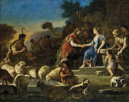 Luca Giordano: Jakub i Rachela przy studni
