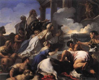 Luca Giordano: Ofiara dla Apolla