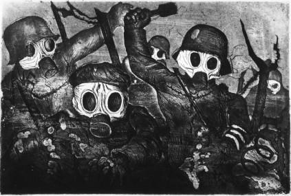 Otto Dix, Atak w oparach gazu