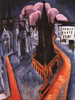 Ernst Ludwig Kirchner: Czerwona wieża w Halle