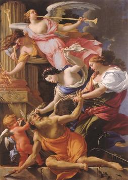 Simon Vouet: Saturn pokonany przez Amora, Nadzieję i Wenus
