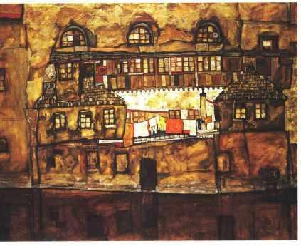 Egon Schiele: Dom nad rzeką