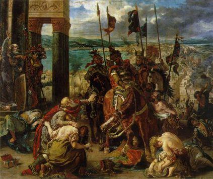 Eugène Delacroix.: Wkrocznie krzyżowców do Konstantynopola