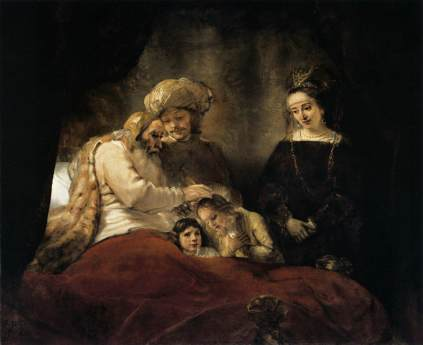 Rembrandt: Jakub na łożu śmierci