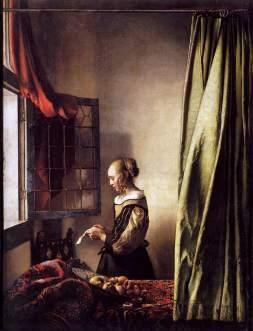 Vermeer van Delft: Czytająca list