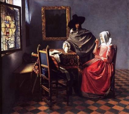 Vermeer van Delft: Kawaler i pijąca niewiasta