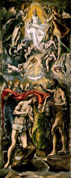 El Greco: Chrzest Chrystusa