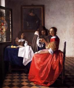 Vermeer van Delft: Dama i kawalerowie