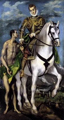El Greco: Św. Marcin i żebrak