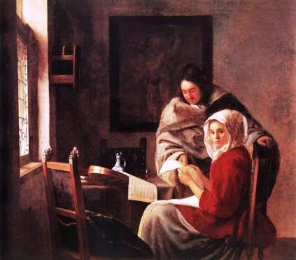 Vermeer van Delft: Przerwana muzyka