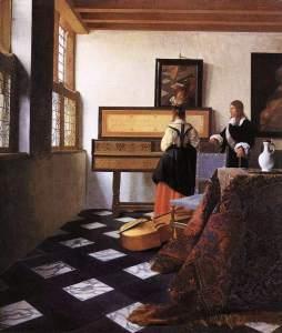 Vermeer van Delft: Dama przy wirginale