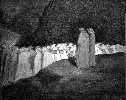 Gustave Doré: Piekło (Hipokryci)