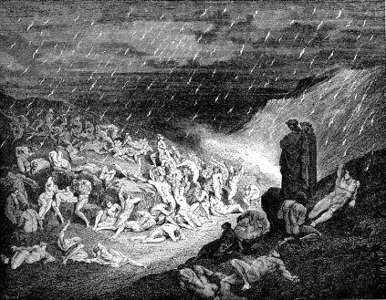 Gustave Doré: Piekło (Ognisty deszcz)
