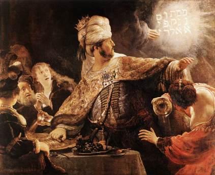Rembrandt: Uczta Baltazara