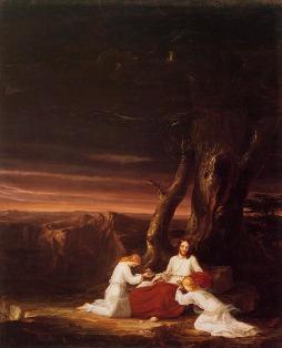 Thomas Cole: Chrystus z aniołami na pustyni