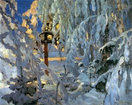 Ferdynand Ruszczyc: Krzyż w śniegu