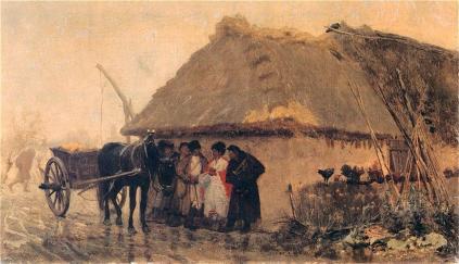 Józef Chełmoński: Podczas deszczu