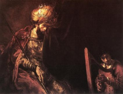 Rembrandt: Saul i Dawid