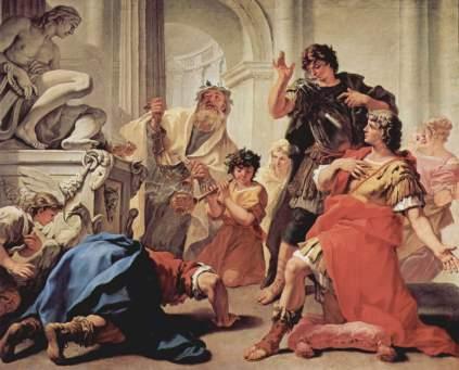 Sebastiano Ricci: Brutus całujący ziemię