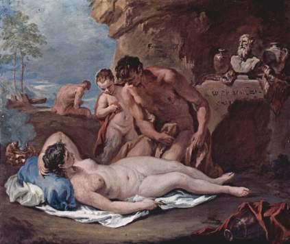 Sebastiano Ricci: Śpiąca nimfa