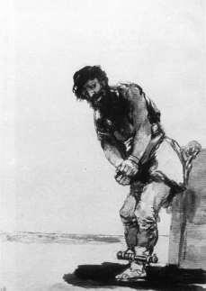 Francisco Goya: Spętany więzień