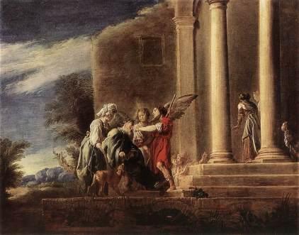Domenico Fetti: Tobiasz leczący swego ojca ze ślepoy