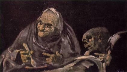 Francisco Goya: Dwie staruchy spożywające pokarm
