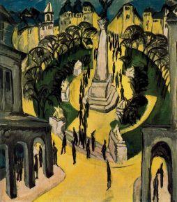 Ernst Ludwig Kirchner: Belle Alliance Platz w Berlinie