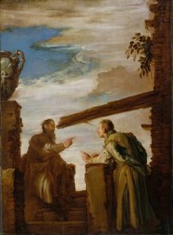 Domenico Fetti: Przypowieść o drzazdze i belce