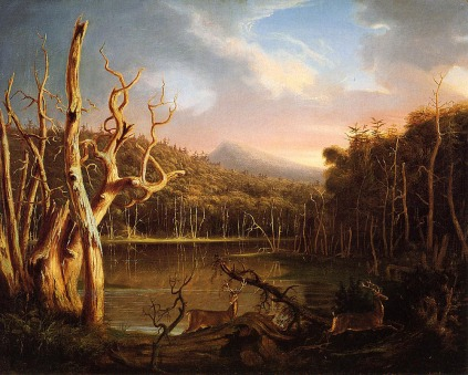 Thomas Cole: Jezioro w górach Catskill