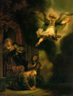 Rembrandt: Tobiasz i anioł
