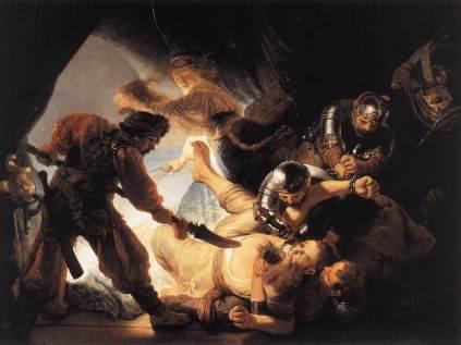 Rembrandt: Oślepienie Samsona