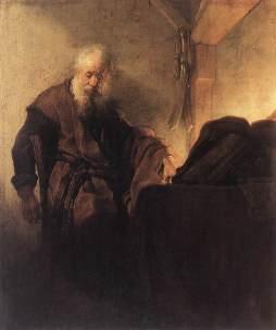 Rembrandt: Święty Paweł