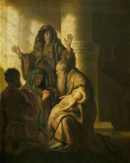 Rembrandt: Symeon