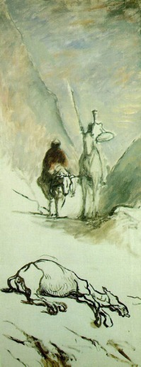 Honoré Daumier: Don Kichote i zdechły muł