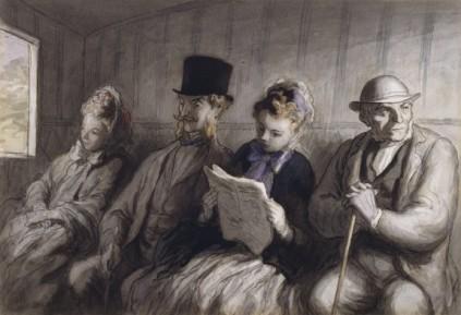 Honoré Daumier: Przedział kolejowy
