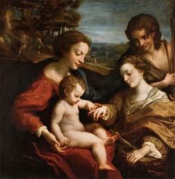 Correggio: Mistyczne zaślubiny św. Katarzyny
