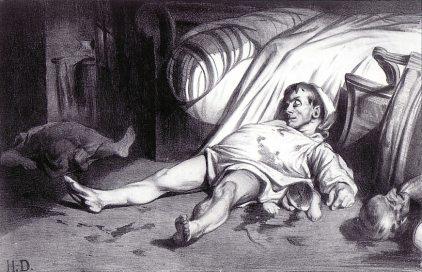 Honoré Daumier: Rue Transonanin