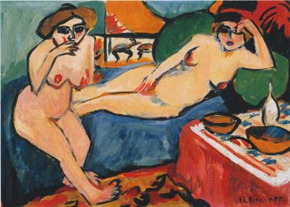 Ernst Ludwig Kirchner: Akty na błękitnej sofie