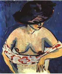 Ernst Ludwig Kirchner: Akt w kapeluszu