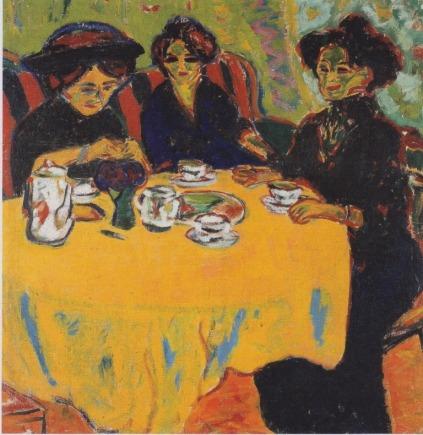 Ernst Ludwig Kirchner: Stolik w kawiarni