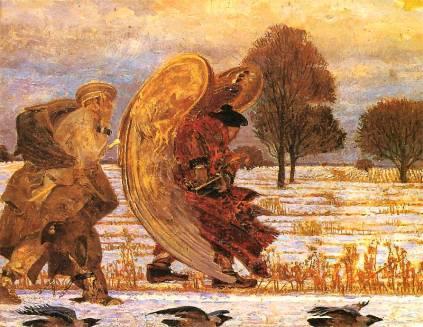 Jacek Malczewski: Za aniołem (I)