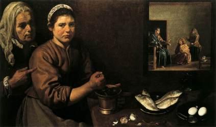 Diego Velázquez: Kuchnia w domu Marty i Marii