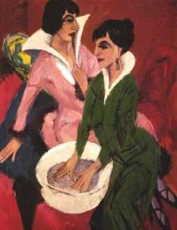Ernst Ludwig Kirchner: Dwie kobiety z miednicą