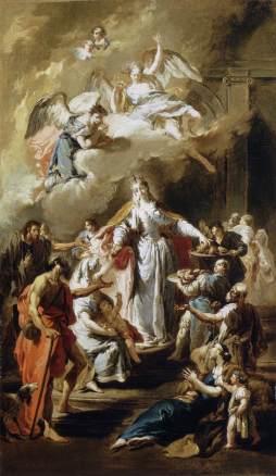 Giovanni Battista Pittoni: Św. Elżbieta rozdzielająca jałmużnę