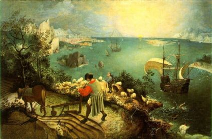Pieter Brueghel Starszy: Upadek Ikara