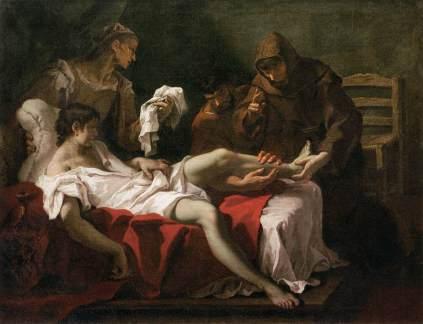 Sebastiano Ricci: Św. Antoni z Padwy leczący młodzieńca